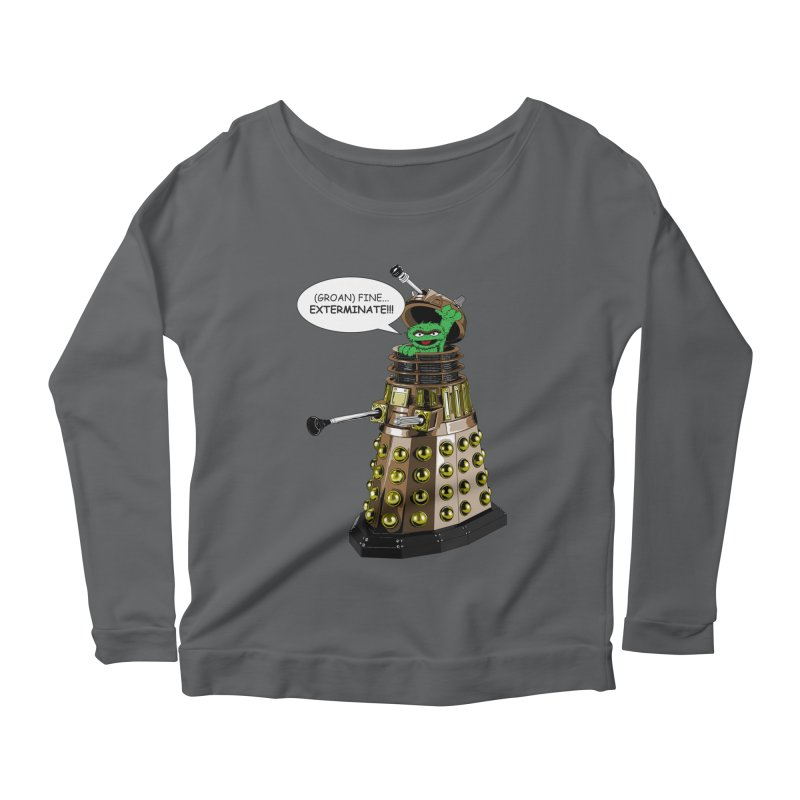 Oscar the Dalek Women's Scoop Neck Longsleeve T-Shirt by Zheph Skyre