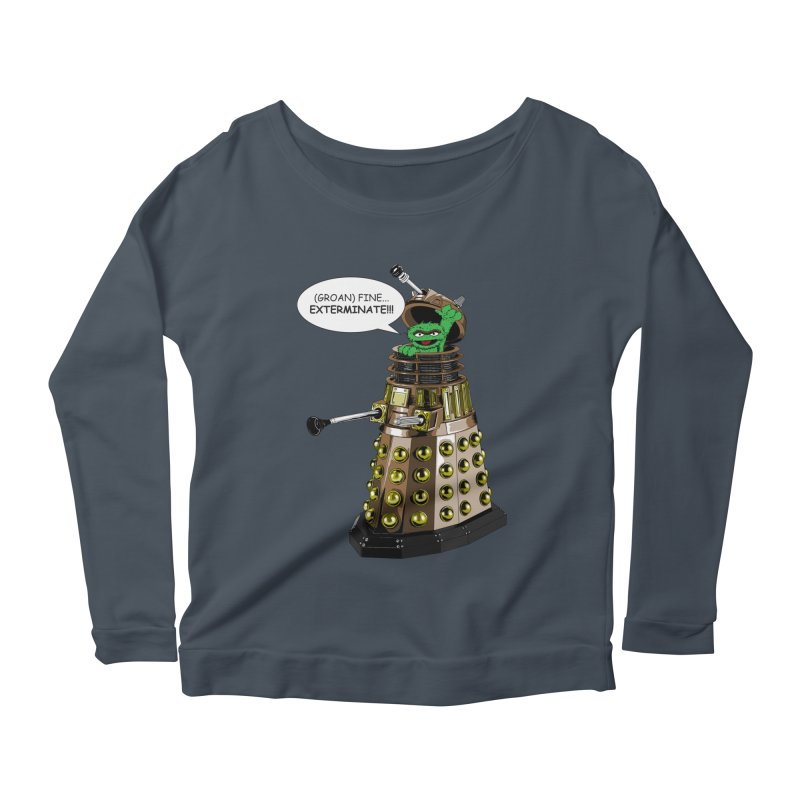 Oscar the Dalek Women's Scoop Neck Longsleeve T-Shirt by zhephskyre's Artist Shop