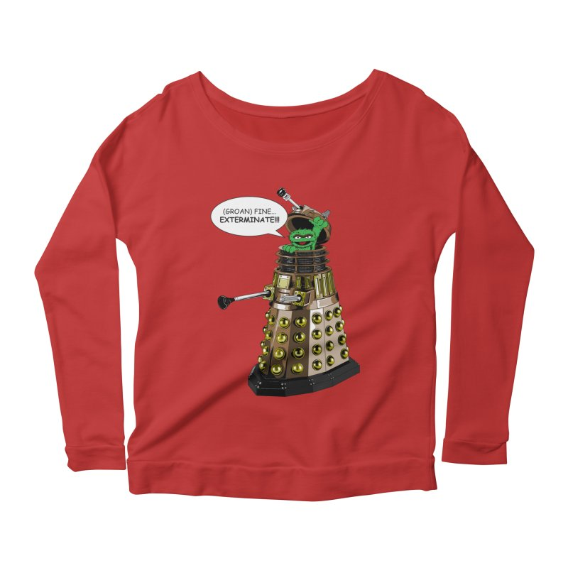 Oscar the Dalek Women's Longsleeve Scoopneck  by zhephskyre's Artist Shop