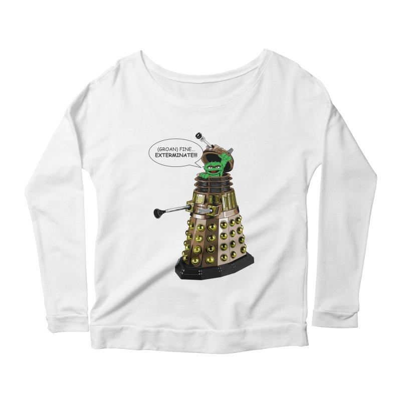 Oscar the Dalek Women's Scoop Neck Longsleeve T-Shirt by zhephskyre's Artist Shop