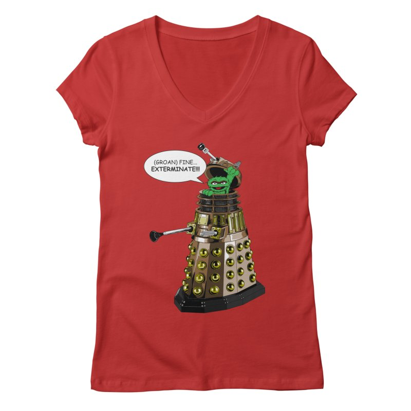 Oscar the Dalek Women's V-Neck by zhephskyre's Artist Shop