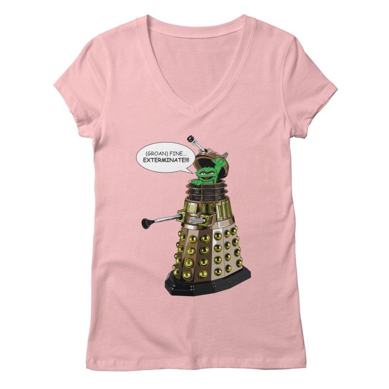 Oscar the Dalek Women's V-Neck by zhephskyre's Artist Shop