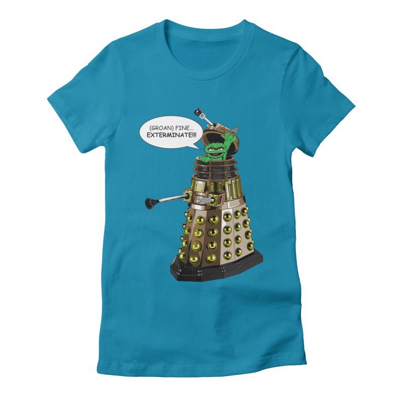 Oscar the Dalek Women's Fitted T-Shirt by zhephskyre's Artist Shop