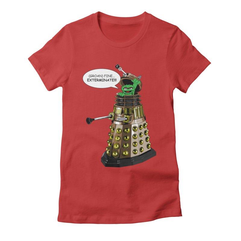 Oscar the Dalek Women's Fitted T-Shirt by zhephskyre's Artist Shop