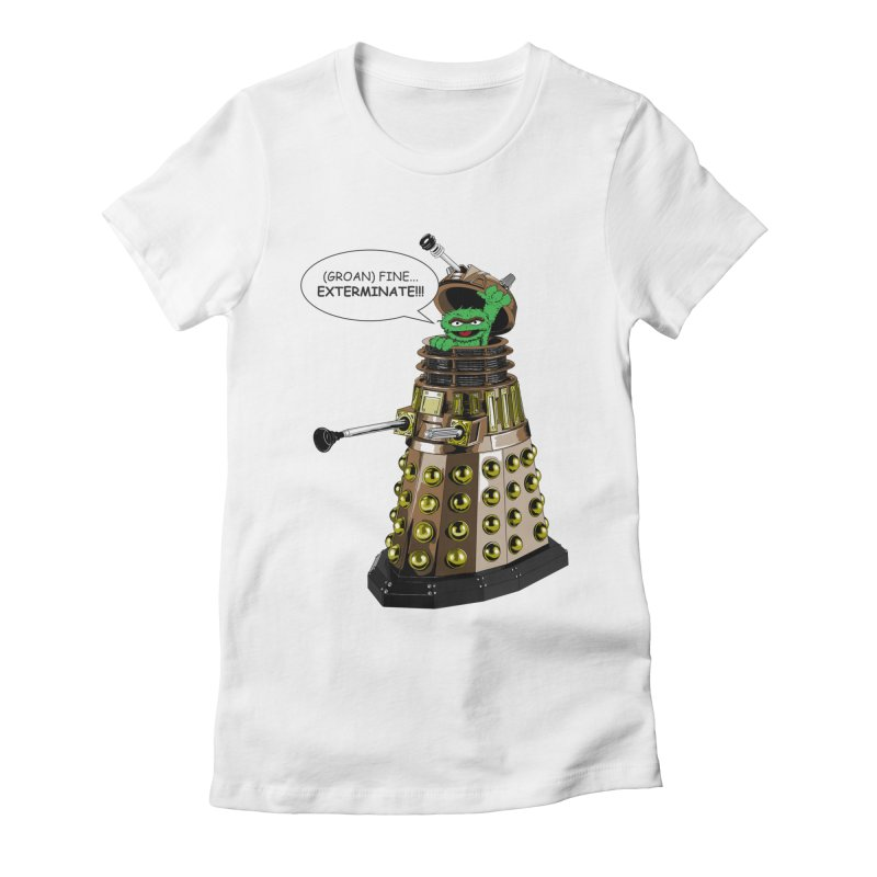 Oscar the Dalek Women's Fitted T-Shirt by Zheph Skyre