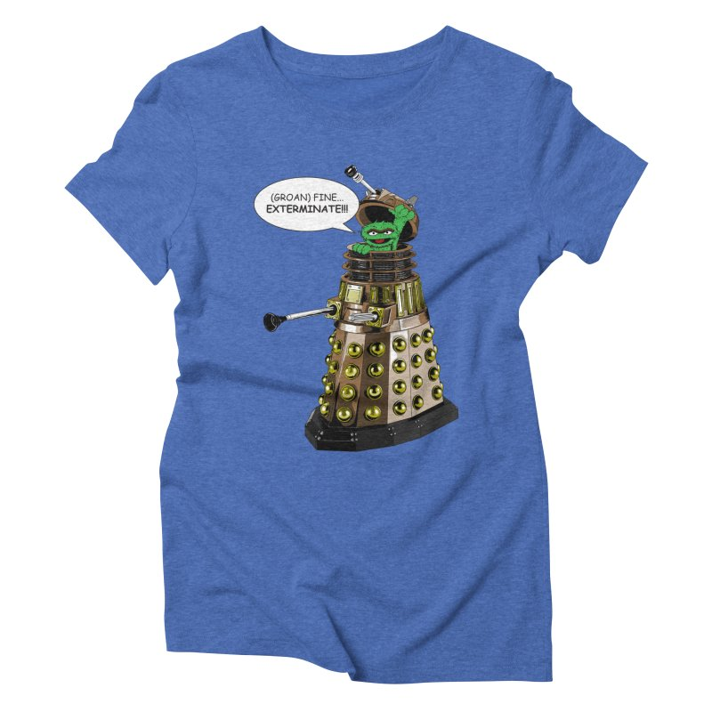 Oscar the Dalek Women's Triblend T-shirt by zhephskyre's Artist Shop