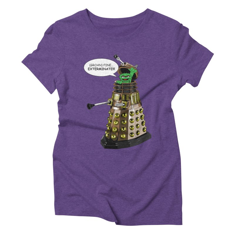 Oscar the Dalek Women's Triblend T-shirt by zhephskyre's Artist Shop