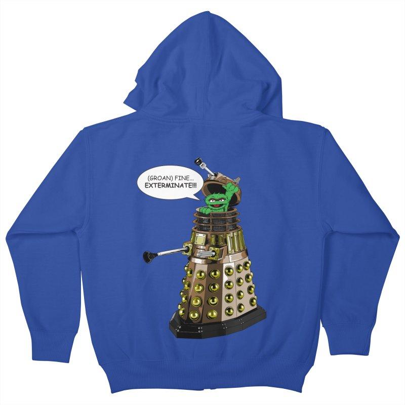 Oscar the Dalek Kids Zip-Up Hoody by zhephskyre's Artist Shop
