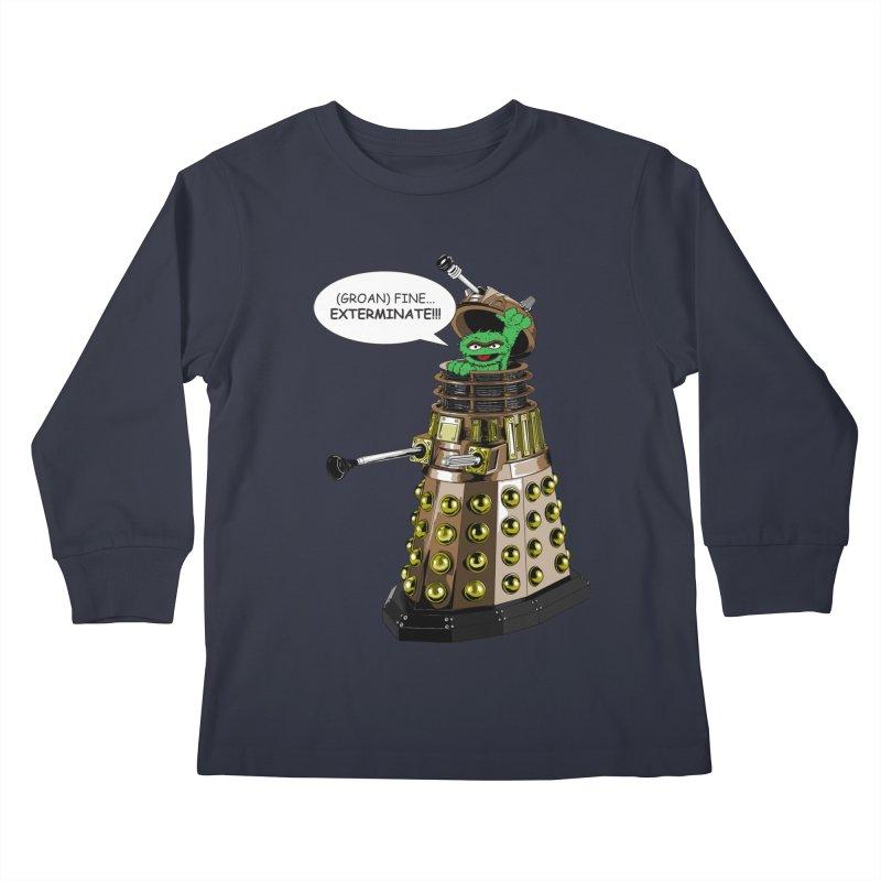 Oscar the Dalek Kids Longsleeve T-Shirt by zhephskyre's Artist Shop