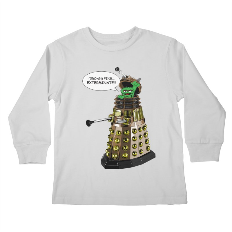 Oscar the Dalek Kids Longsleeve T-Shirt by Zheph Skyre