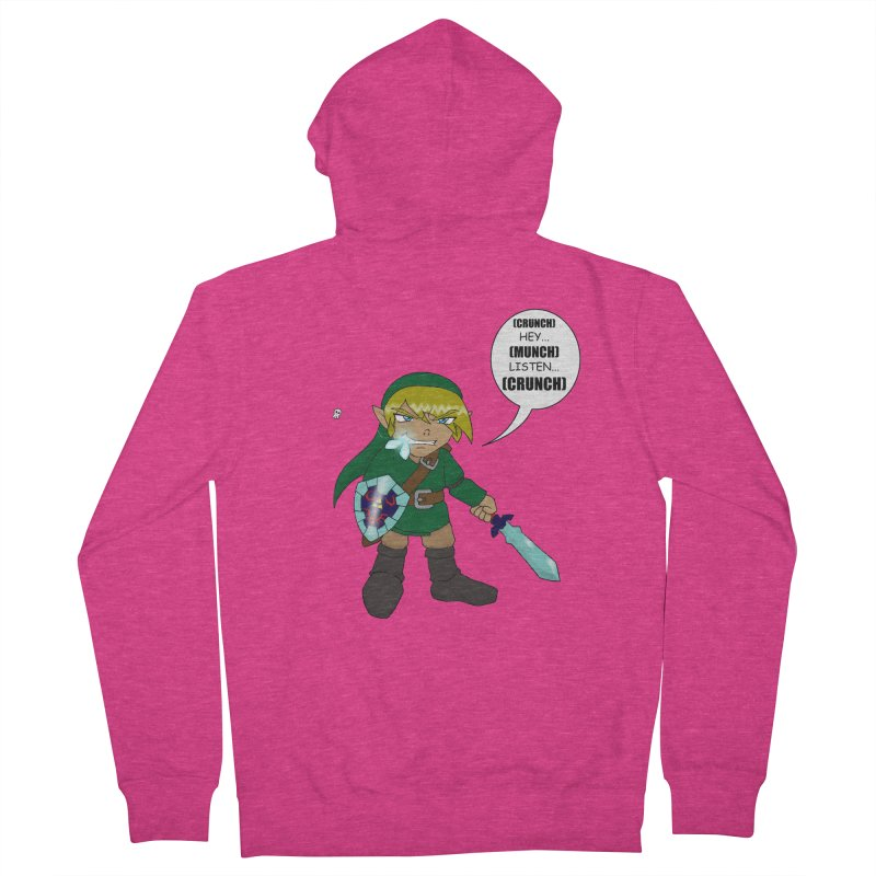Link's Fantasy Women's French Terry Zip-Up Hoody by zhephskyre's Artist Shop
