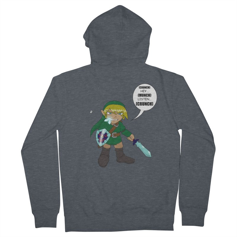 Link's Fantasy Men's French Terry Zip-Up Hoody by Zheph Skyre