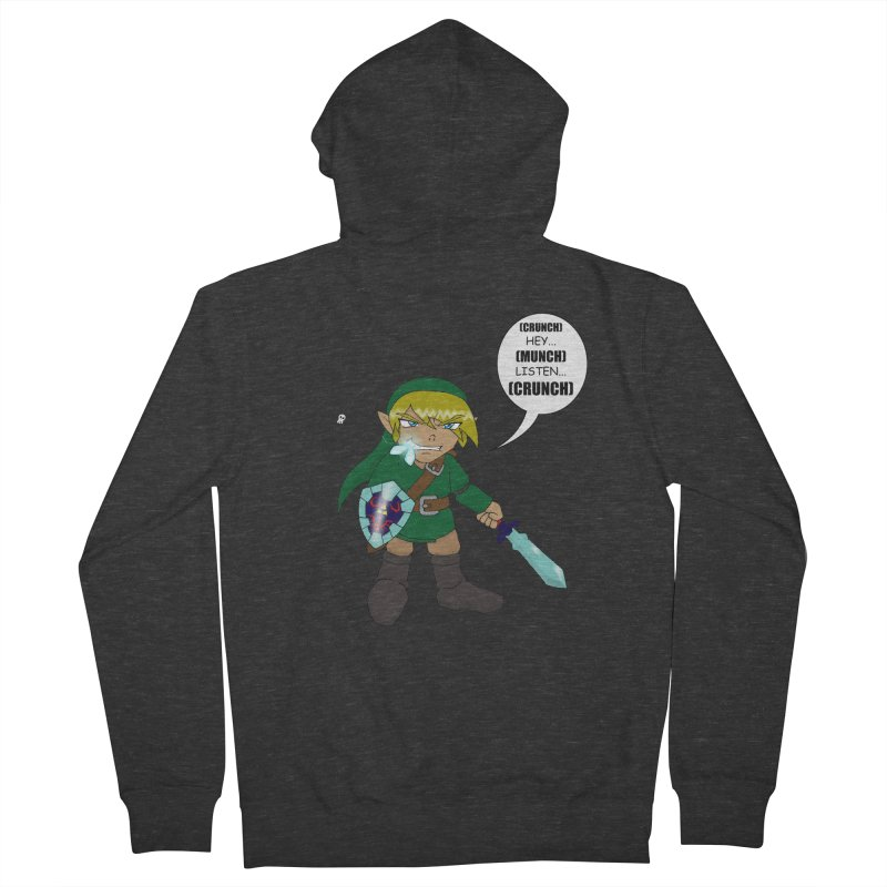 Link's Fantasy Men's French Terry Zip-Up Hoody by zhephskyre's Artist Shop