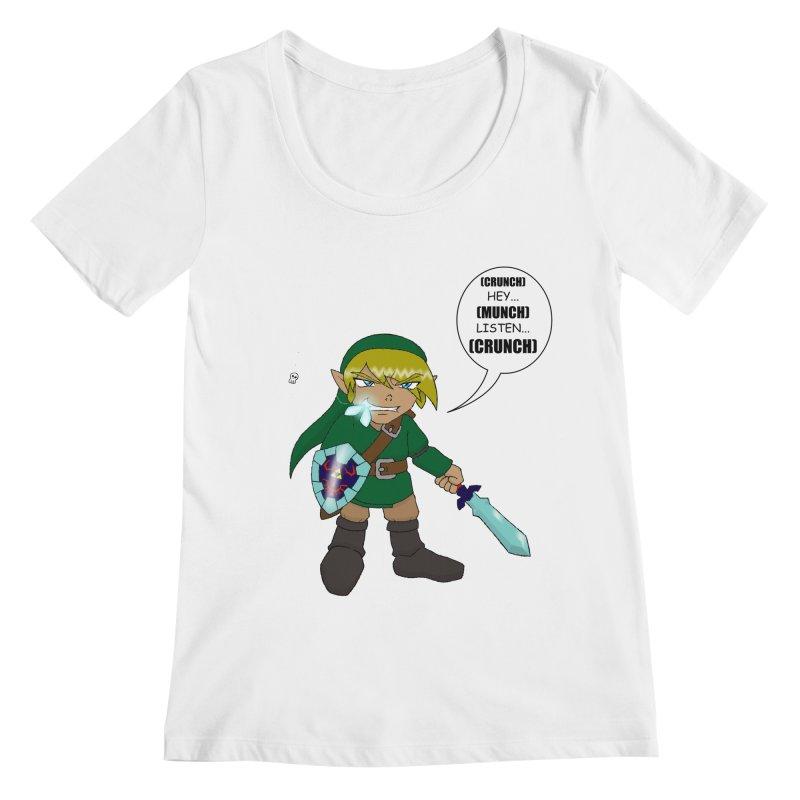 Link's Fantasy Women's Regular Scoop Neck by Zheph Skyre