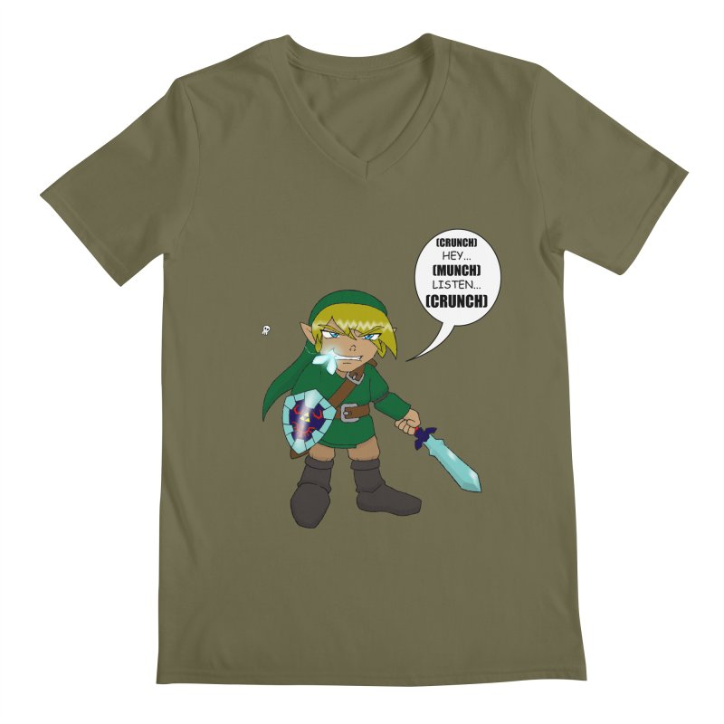 Link's Fantasy Men's V-Neck by zhephskyre's Artist Shop