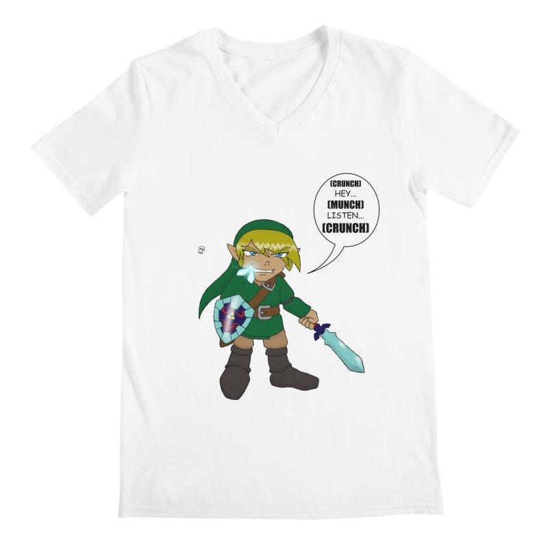 Link's Fantasy Men's V-Neck by zhephskyre's Artist Shop