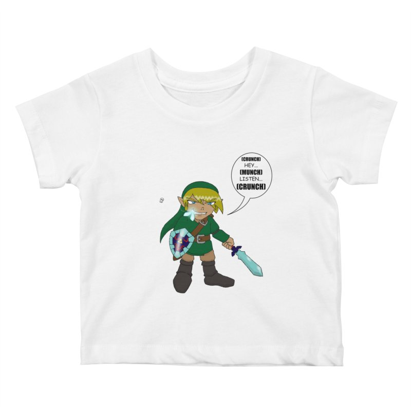 Link's Fantasy Kids Baby T-Shirt by zhephskyre's Artist Shop