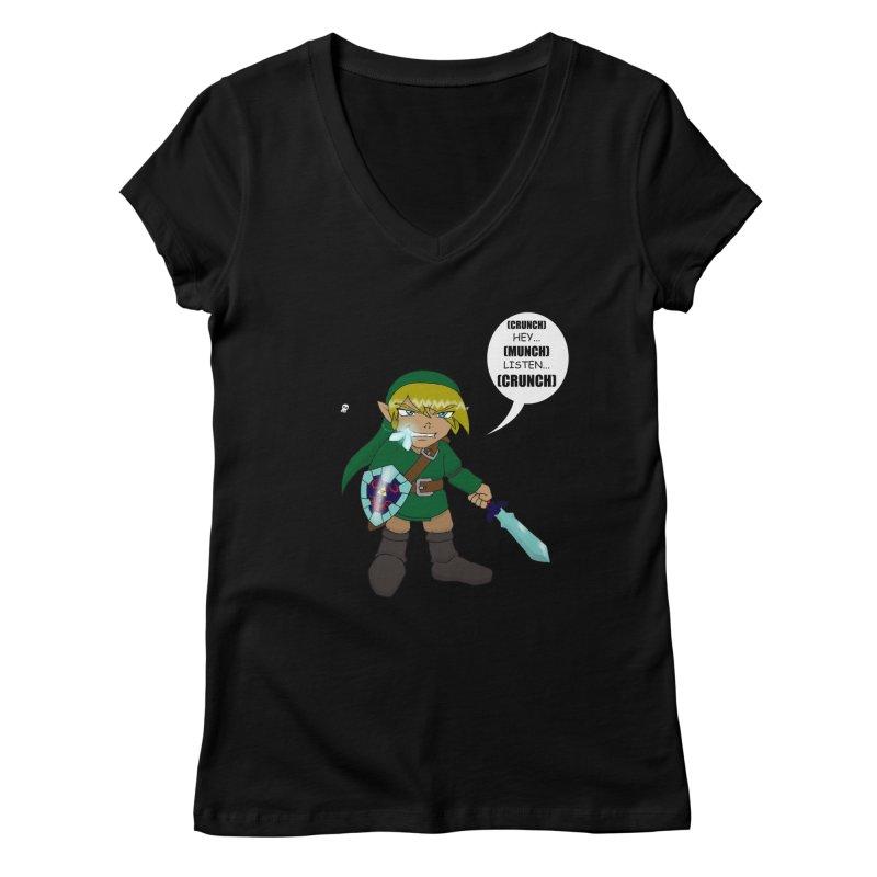 Link's Fantasy Women's V-Neck by Zheph Skyre