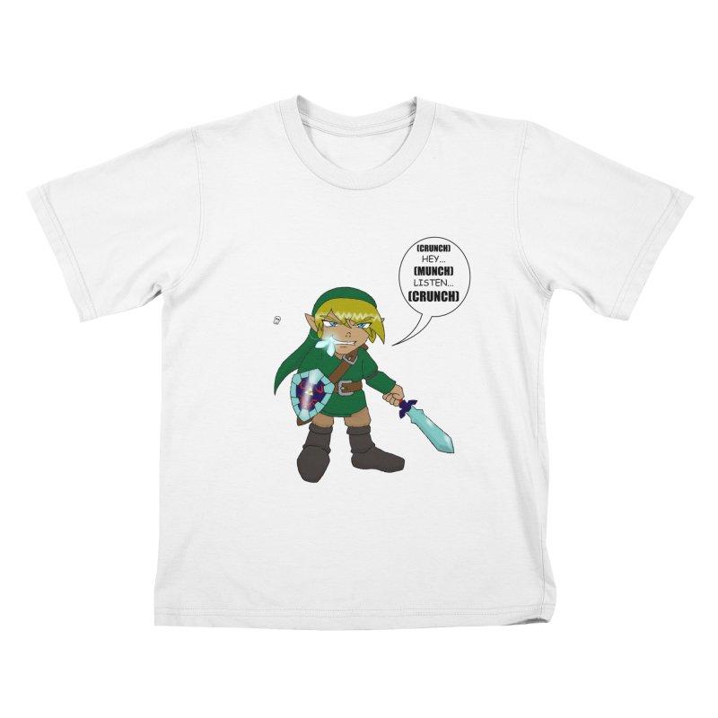 Link's Fantasy Kids T-Shirt by Zheph Skyre