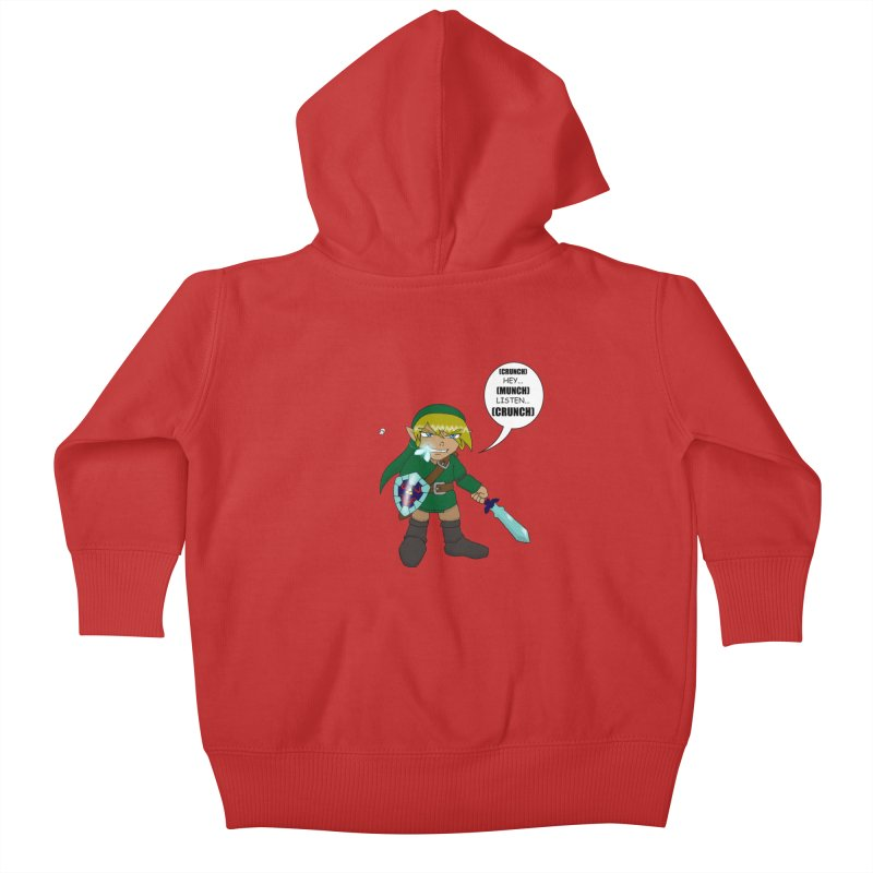 Link's Fantasy Kids Baby Zip-Up Hoody by Zheph Skyre
