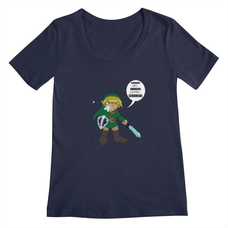 Link's Fantasy Women's Scoopneck by zhephskyre's Artist Shop