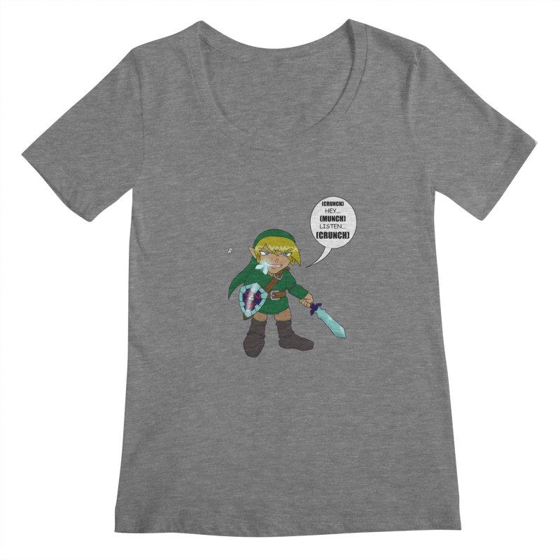 Link's Fantasy Women's Scoopneck by zhephskyre's Artist Shop