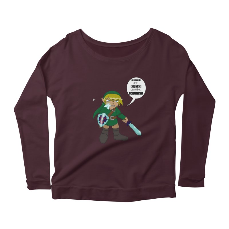 Link's Fantasy Women's Scoop Neck Longsleeve T-Shirt by zhephskyre's Artist Shop
