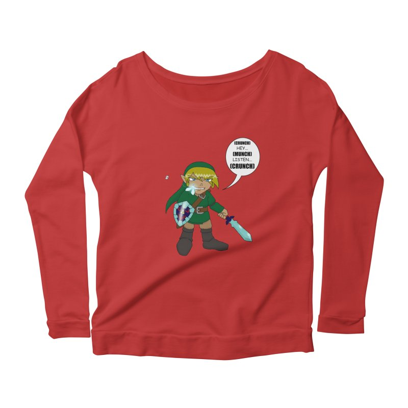 Link's Fantasy Women's Scoop Neck Longsleeve T-Shirt by zhephskyre's Artist Shop