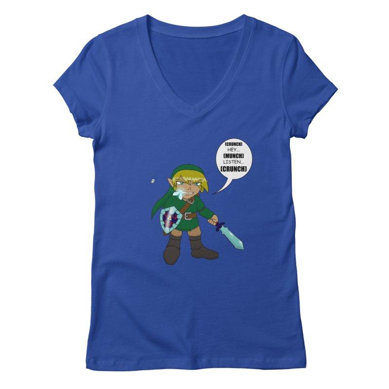 Link's Fantasy Women's Regular V-Neck by zhephskyre's Artist Shop