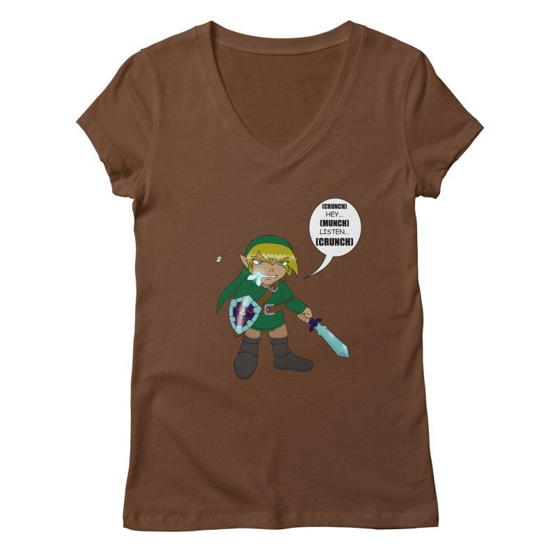 Link's Fantasy Women's V-Neck by zhephskyre's Artist Shop