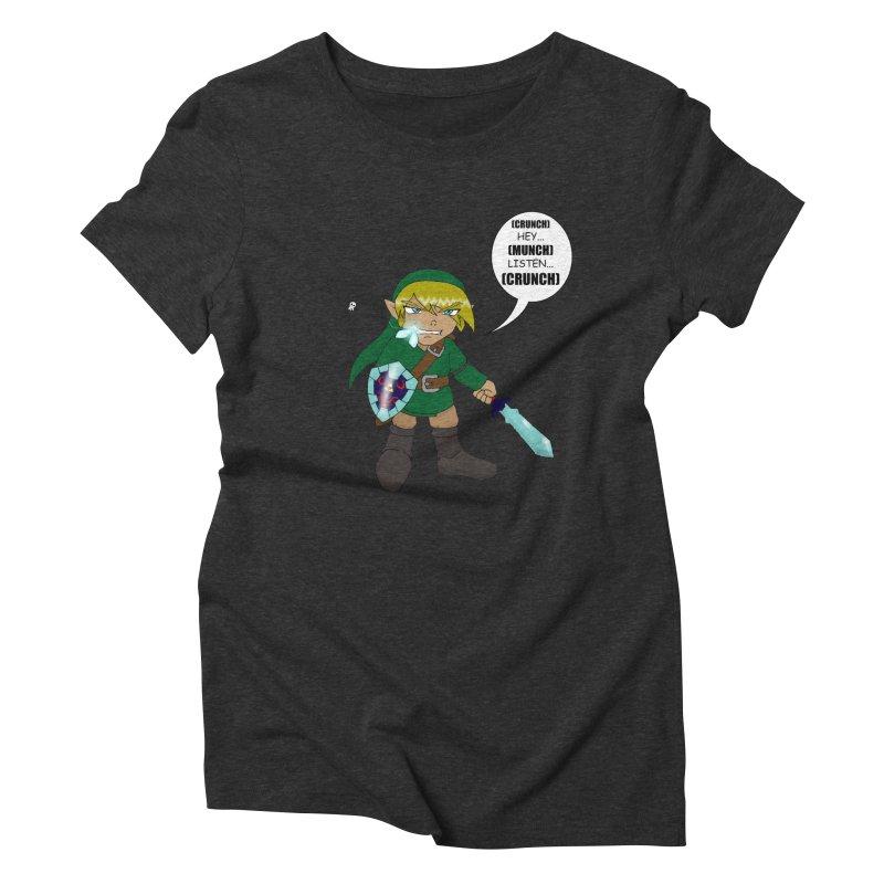 Link's Fantasy Women's Triblend T-Shirt by zhephskyre's Artist Shop