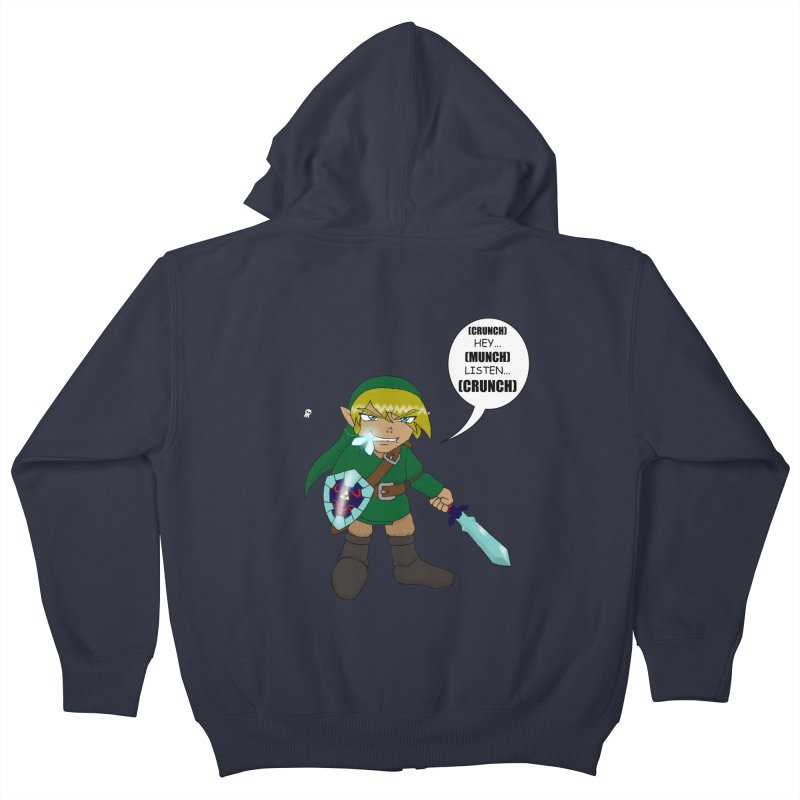 Link's Fantasy Kids Zip-Up Hoody by zhephskyre's Artist Shop