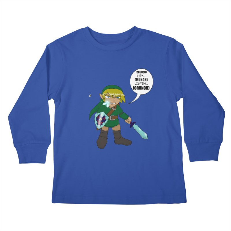 Link's Fantasy Kids Longsleeve T-Shirt by Zheph Skyre