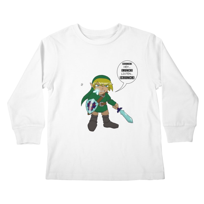 Link's Fantasy Kids Longsleeve T-Shirt by zhephskyre's Artist Shop