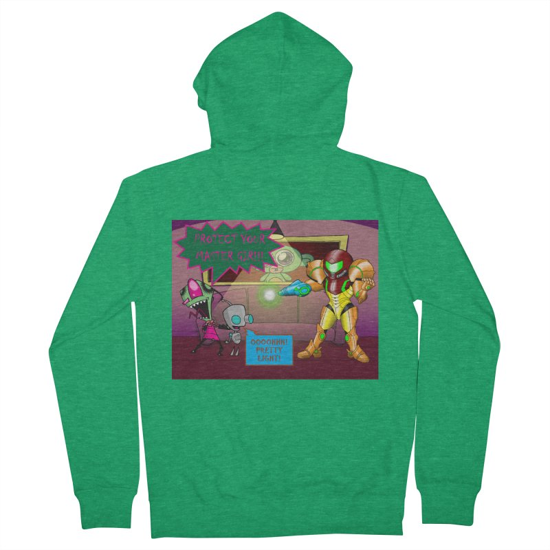 Zim Vs Samus Men's Zip-Up Hoody by Zheph Skyre