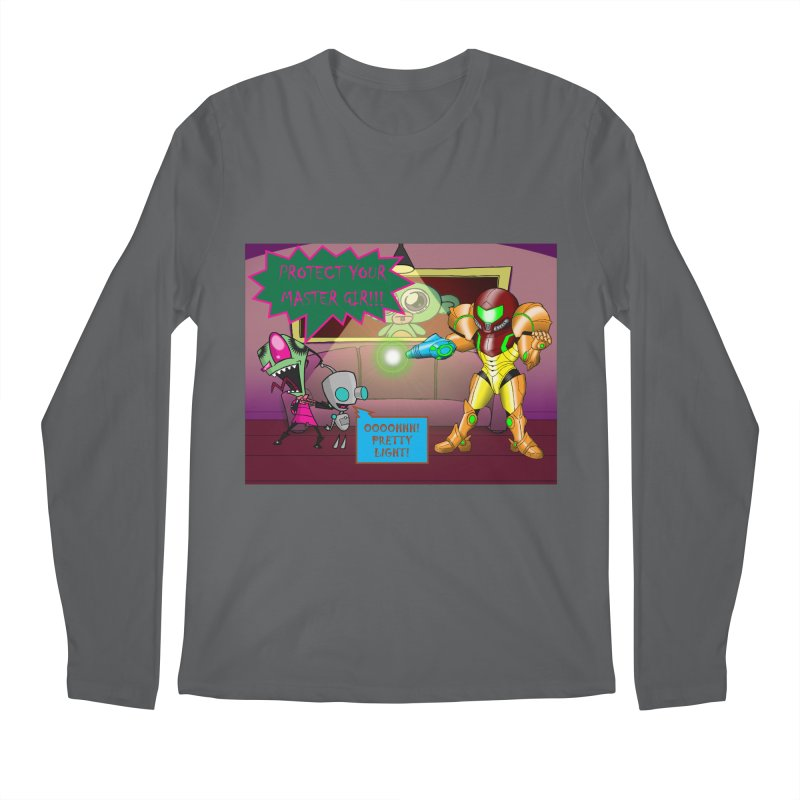 Zim Vs Samus Men's Regular Longsleeve T-Shirt by Zheph Skyre