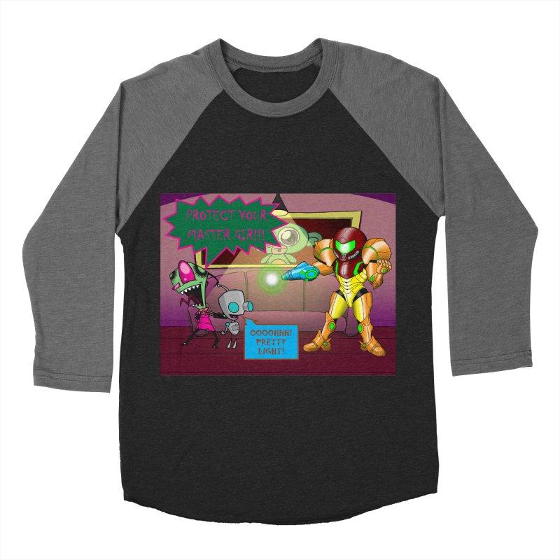 Zim Vs Samus Men's Baseball Triblend Longsleeve T-Shirt by zhephskyre's Artist Shop
