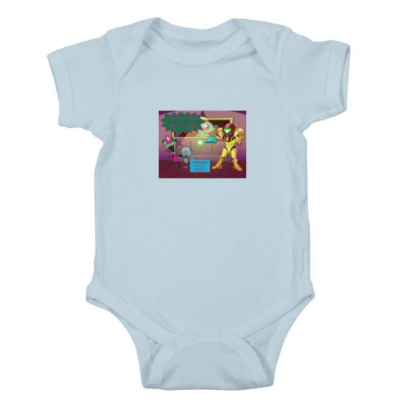 Zim Vs Samus Kids Baby Bodysuit by zhephskyre's Artist Shop