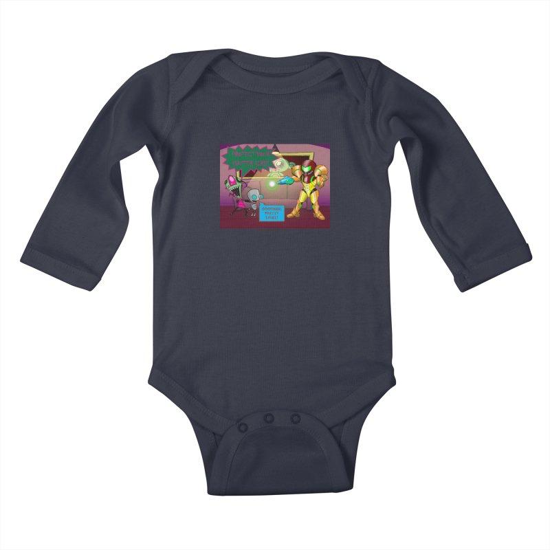 Zim Vs Samus Kids Baby Longsleeve Bodysuit by Zheph Skyre