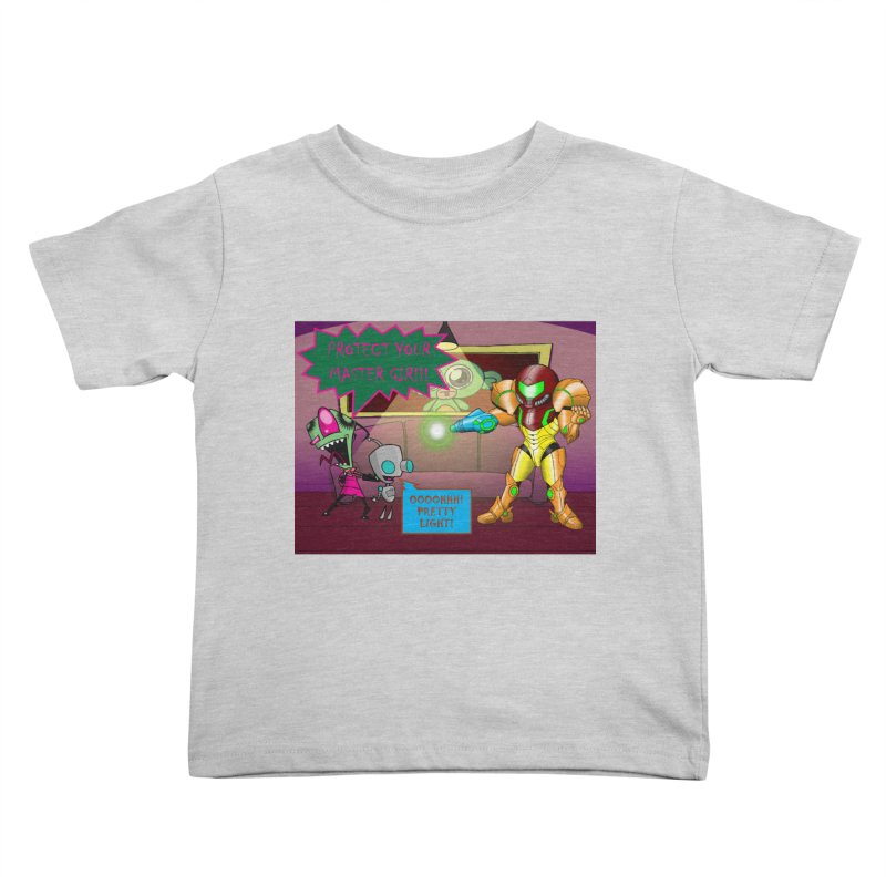 Zim Vs Samus Kids Toddler T-Shirt by zhephskyre's Artist Shop