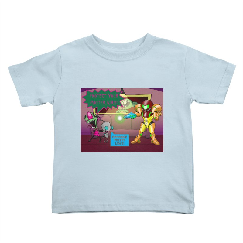 Zim Vs Samus Kids Toddler T-Shirt by zhephskyre's Artist Shop