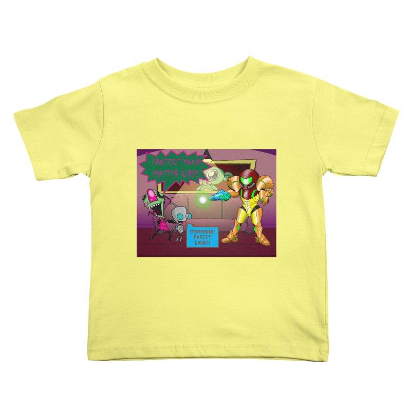 Zim Vs Samus Kids Toddler T-Shirt by Zheph Skyre