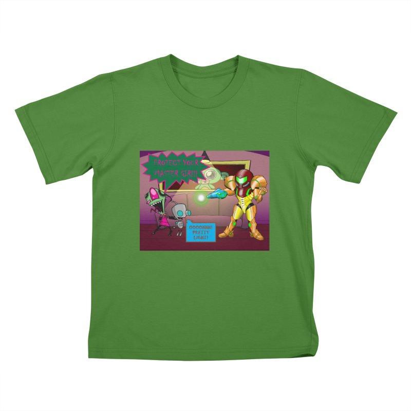 Zim Vs Samus Kids T-shirt by zhephskyre's Artist Shop