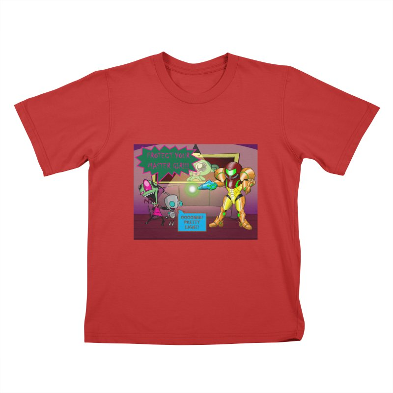 Zim Vs Samus Kids T-Shirt by zhephskyre's Artist Shop