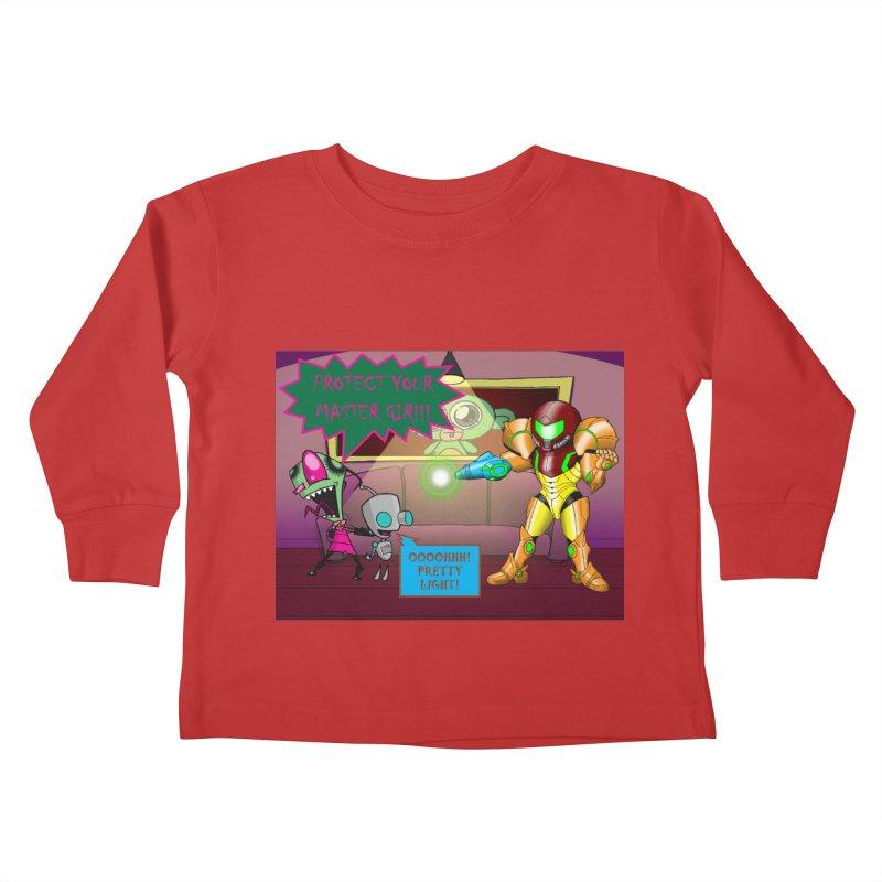 Zim Vs Samus Kids Toddler Longsleeve T-Shirt by zhephskyre's Artist Shop