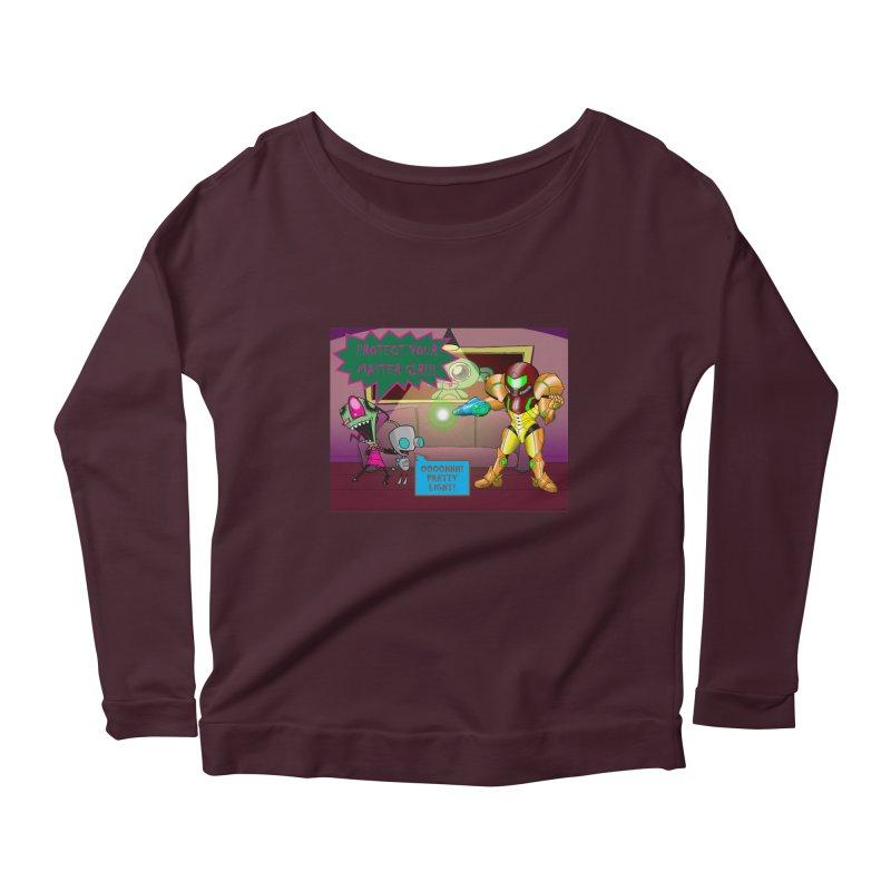 Zim Vs Samus Women's Scoop Neck Longsleeve T-Shirt by zhephskyre's Artist Shop