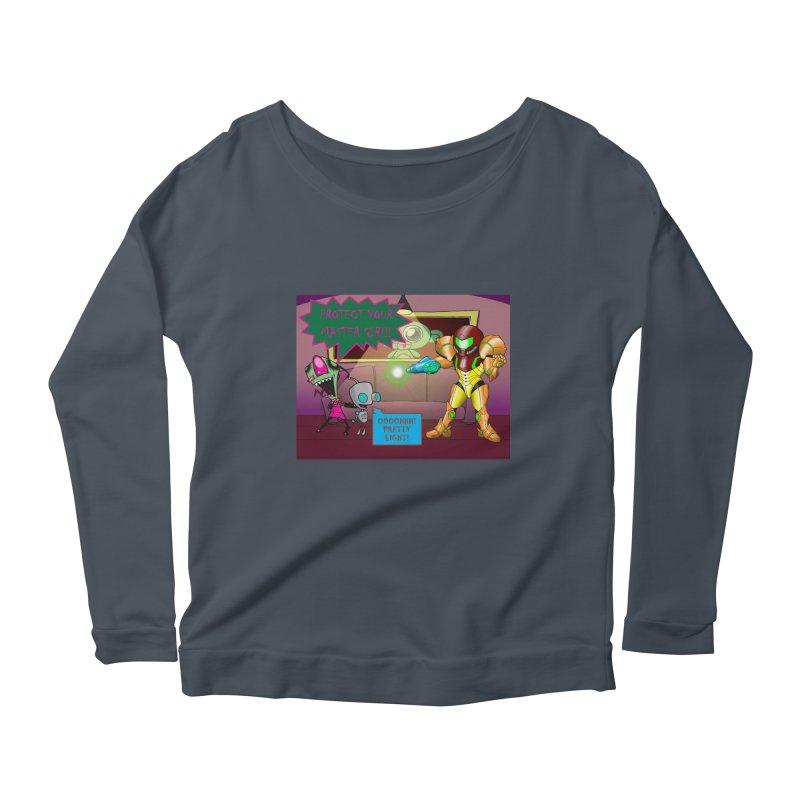 Zim Vs Samus Women's Scoop Neck Longsleeve T-Shirt by Zheph Skyre