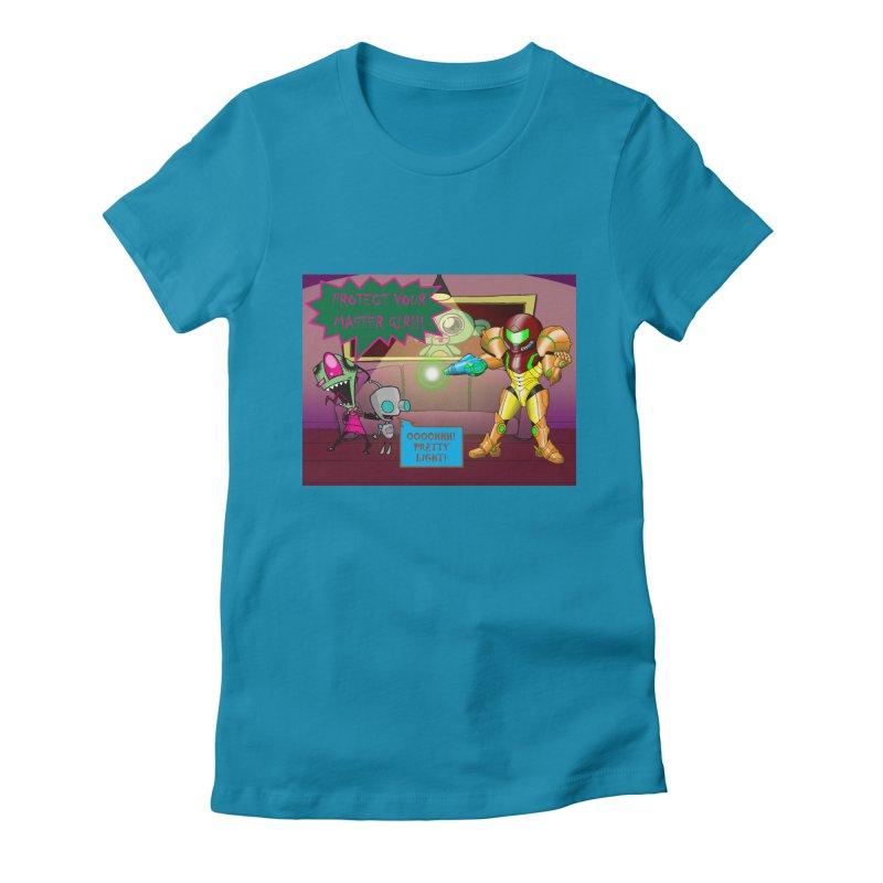 Zim Vs Samus Women's Fitted T-Shirt by zhephskyre's Artist Shop
