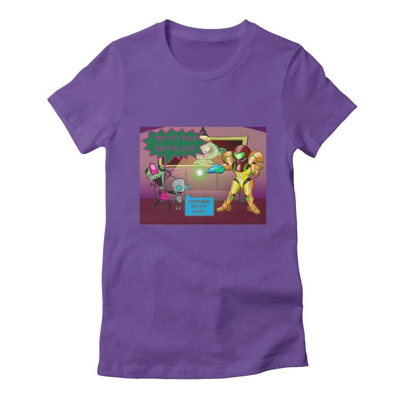 Zim Vs Samus Women's Fitted T-Shirt by Zheph Skyre