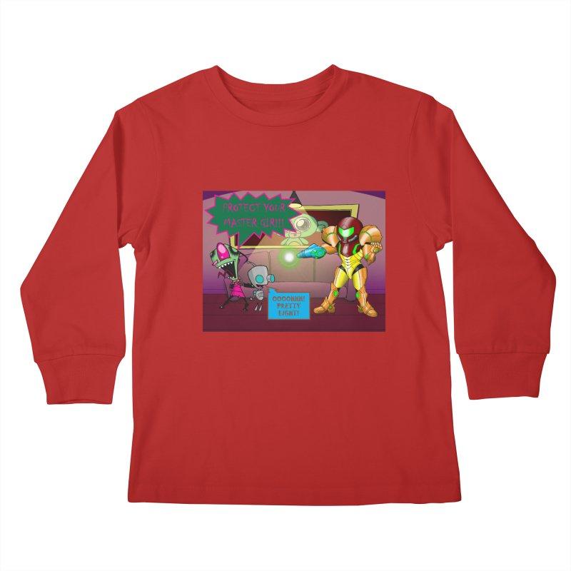 Zim Vs Samus Kids Longsleeve T-Shirt by zhephskyre's Artist Shop